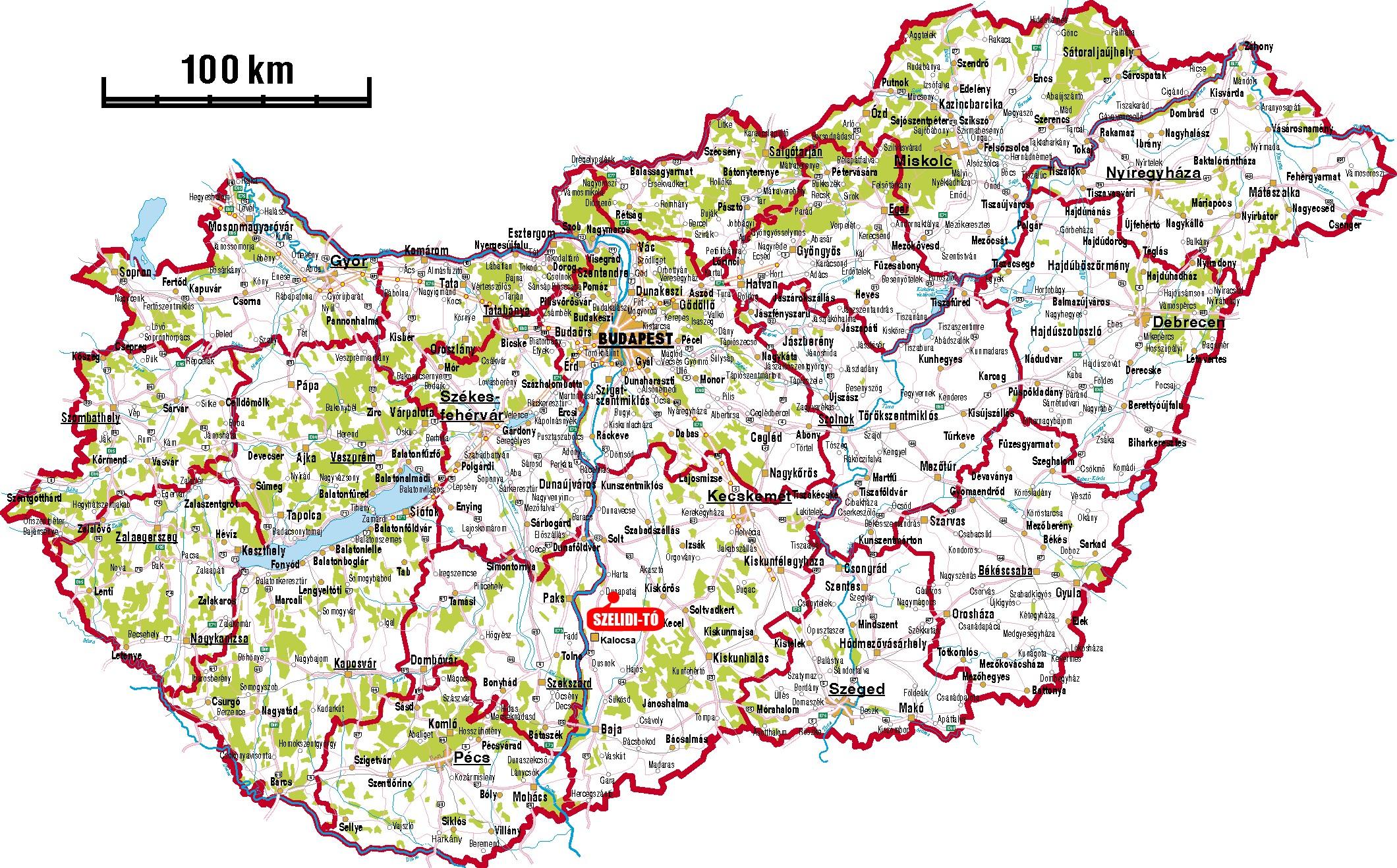 szelidi tó térkép Szelidi tó   Megközelíthetőség | Szelidi Nyár szelidi tó térkép