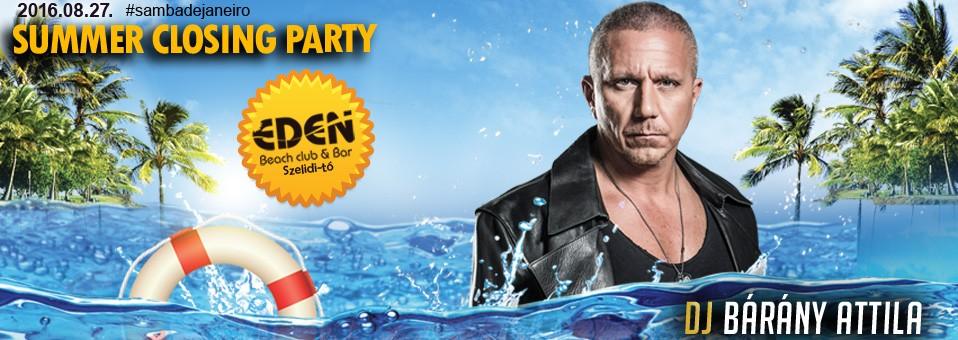 2016.08.27. – Summer Closing Party @ Éden Beach